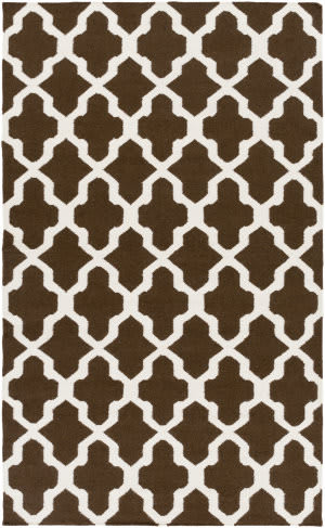 Surya York Olivia Brown/White Area Rug