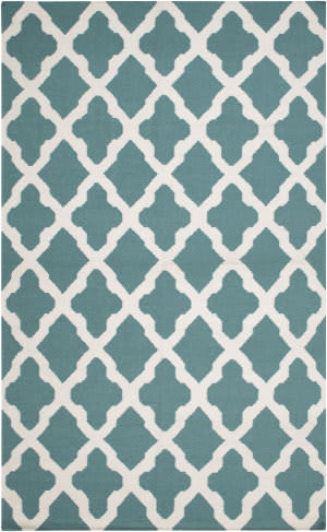 Surya York Olivia Teal/White Area Rug
