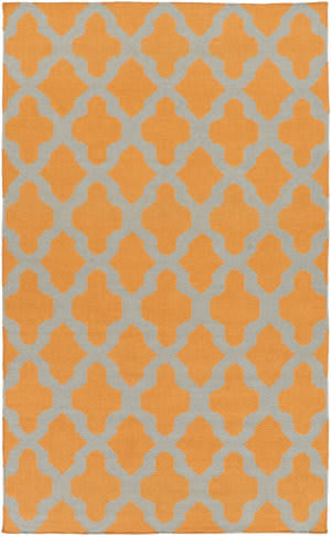 Surya York Olivia Orange/Grey Area Rug
