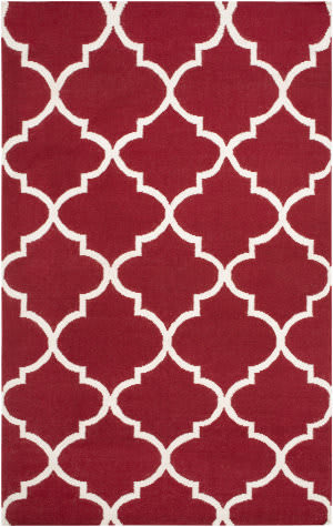 Surya York Mallory Red/White Area Rug