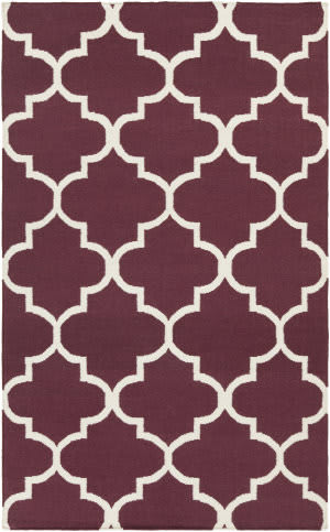 Surya York Mallory Purple/White Area Rug