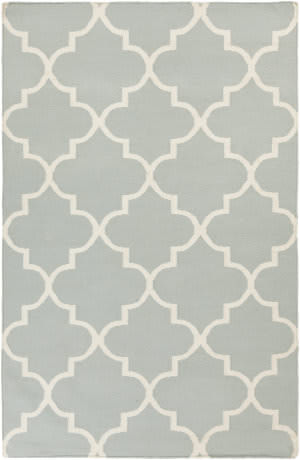 Surya York Mallory Light Blue/White Area Rug