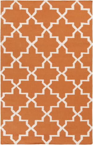 Surya York Reagan Orange/White Area Rug