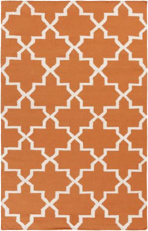 Surya York Reagan Orange/White Area Rug