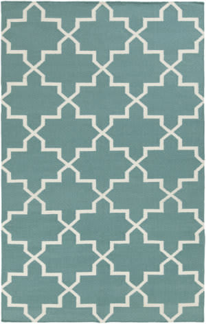 Surya York Reagan Teal/White Area Rug