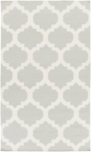 Surya York Harlow Grey/White Area Rug