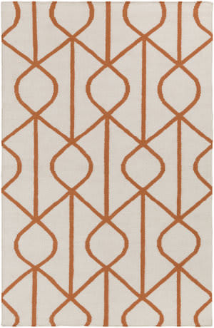 Surya York Ellie Ivory - Orange Area Rug