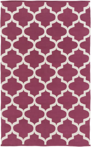 Surya Vogue Everly Maroon/White Area Rug