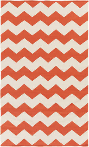 Surya Vogue Collins Coral/White Area Rug