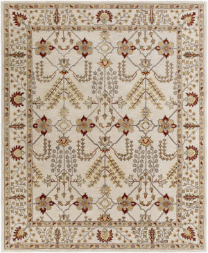 Surya Middleton Kelly Ivory - Burgundy Area Rug