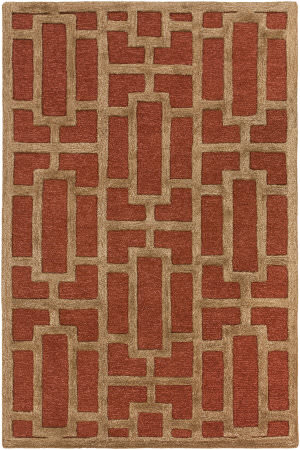 Surya Arise Addison Rust - Tan Area Rug
