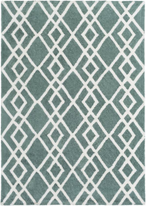 Surya Silk Valley Lila Teal - Ivory Area Rug