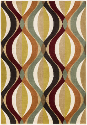 Surya Crete Thea Multi-Colored - Red Area Rug
