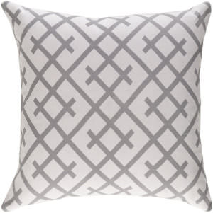 Surya Ethiopia Pillow Kenya Etpa7218 Light Gray