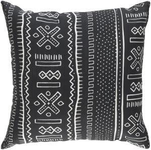 Surya Ethiopia Pillow Nigeria Etpa7227 Onyx Black