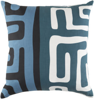 Surya Ethiopia Pillow Morocco Etpa7238 Denim Blue