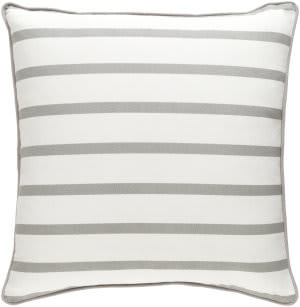 Surya Glyph Pillow Mini Stripe White - Gray