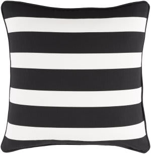 Surya Glyph Pillow Stripe Black - White
