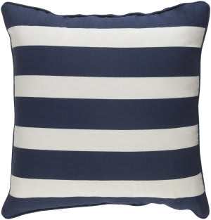 Surya Glyph Pillow Stripe Navy - White