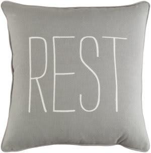 Surya Glyph Pillow Rest Gray - White