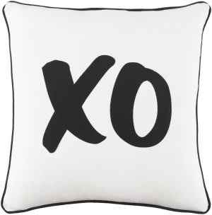 Surya Glyph Pillow Xo White - Black