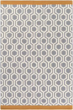 Surya Hilda Eva Gray - Orange Area Rug