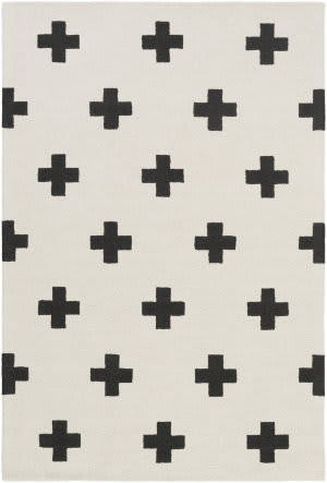 Surya Hilda Monica White - Black Area Rug