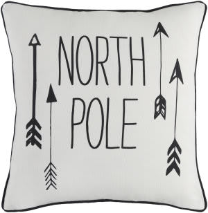 Surya Holiday Pillow North Pole Holi7243 Ivory