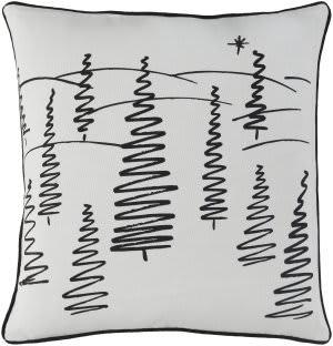 Surya Holiday Pillow Evergreen Holi7247 Ivory
