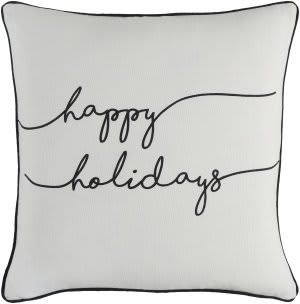 Surya Holiday Pillow Joy Holi7248 Ivory