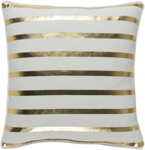 Surya Holiday Pillow Peace Holi7249 Metallic Gold