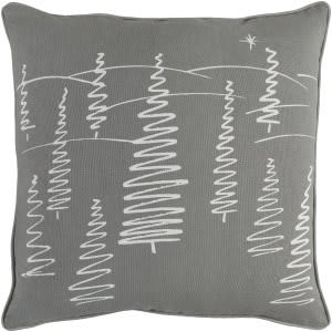 Surya Holiday Pillow Evergreen Holi7256 Gray