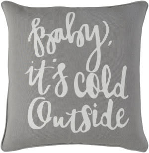 Surya Holiday Pillow Winter Holi7257 Gray