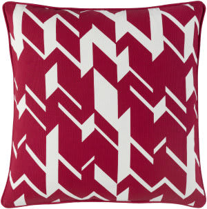 Surya Holiday Pillow Hope Holi7269 Crimson Red