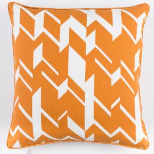 Surya Inga Pillow Josefine Orange - White