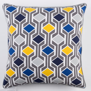 Surya Inga Pillow Greta Blue Multi