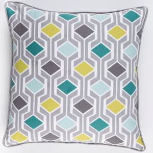 Surya Inga Pillow Greta Teal Multi