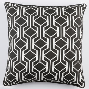 Surya Inga Pillow Greta Black - White