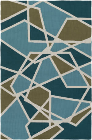 Surya Joan Holloway Teal - Aqua - Olive Green Area Rug