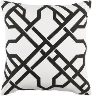 Surya Kingdom Pillow Burke White - Black