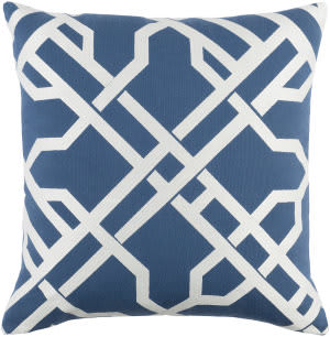 Surya Kingdom Pillow Burke Blue - White