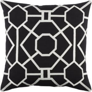 Surya Kingdom Pillow Porcelain Black - White