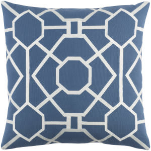 Surya Kingdom Pillow Porcelain Blue - White