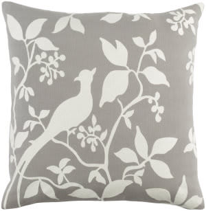 Surya Kingdom Pillow Birch Gray - White