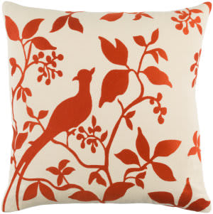 Surya Kingdom Pillow Birch Red - Beige