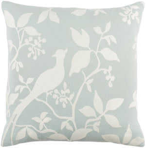 Surya Kingdom Pillow Birch Dusty Aqua - White