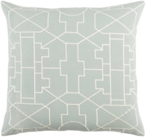 Surya Kingdom Pillow Lei Dusty Aqua - White