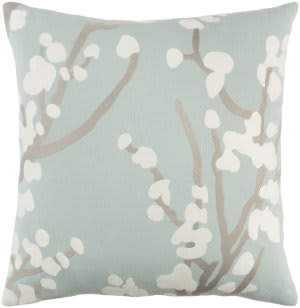 Surya Kingdom Pillow Anna Dusty Aqua - Gray - White