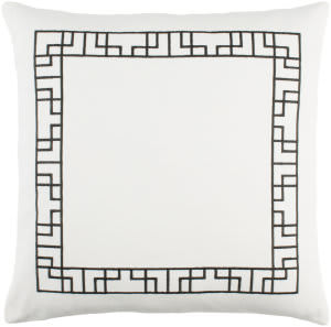 Surya Kingdom Pillow Rachel White - Black