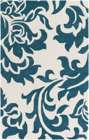 Surya Lounge Heidi Teal - Off-White Area Rug